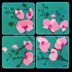Onderzetters Orchid Blue Pylones